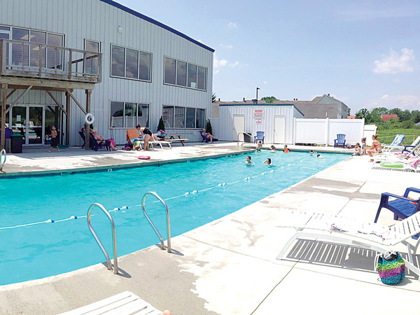 Outdoor Pool Area at Saco Sport & Fitness
