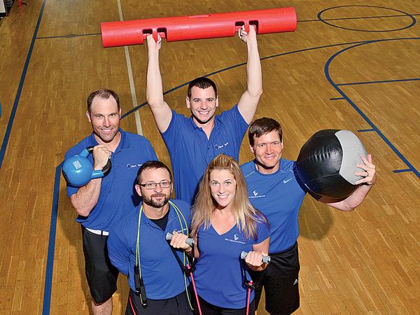 TRIBE Team Trainers: Greg Popp, Shaun Richardson, Tiffany DeMartino, Drew Morrow and Kurt Thibeault