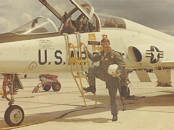Norm Cates, Jr. at Moody Air Force Base in 1968