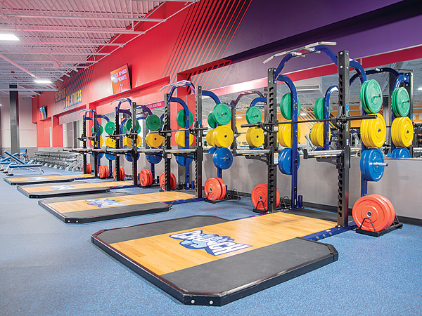 Free Weight Area at Crunch Fitness