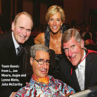 Team Quest (L to R): Joe Moore, Augie and Lynne Nieto and John McCarthy (photo reprinted courtesy of CBI Magazine)