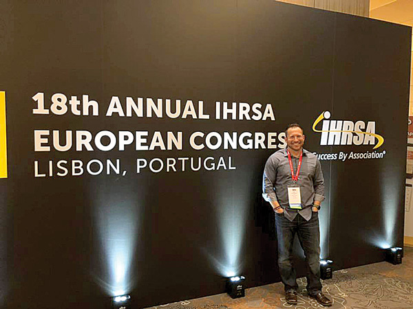 Chris Stevenson at the 18th Annual IHRSA European Congress - Lisbon, Portugal