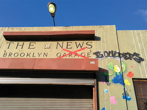 Brooklyn Boulders in the Old Daily News Garage