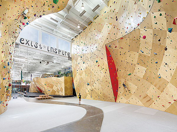 Climbing Room at Brooklyn Boulders Somerville