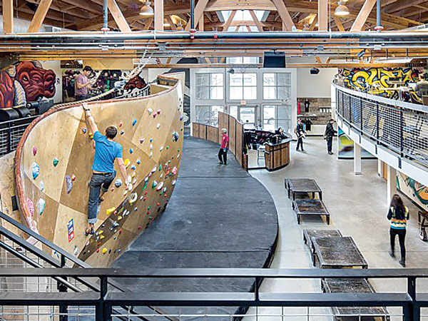 Multi-Use Area at Brooklyn Boulders Chicago