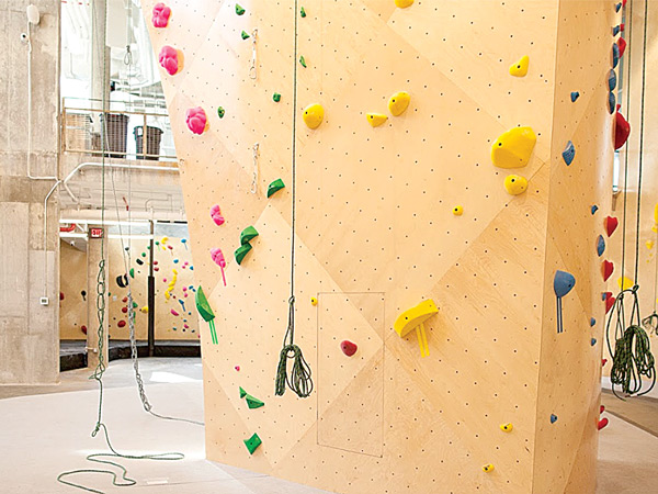 A Climbing Wall at Brooklyn Boulders Queensbridge