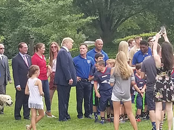 Jim Worthington Speaking With President Donald J. Trump on the White House Lawn