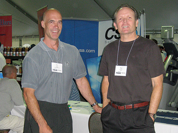 Paul Reed and Roger Sargent at a FitLife Conference