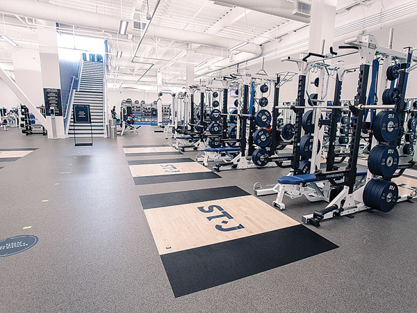 Strength Floor of the Health Club at The St. James