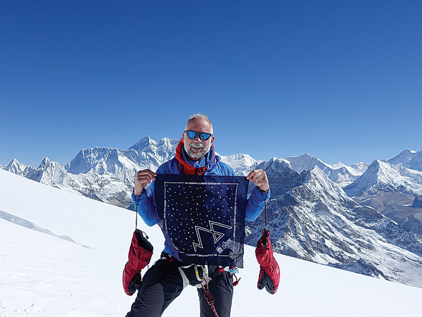 Chris Warner on Mera Peak