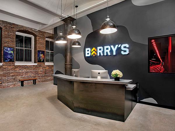 A Barry's Bootcamp Lobby