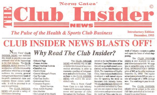 December 1993 - Club Insider News Blasts Off!