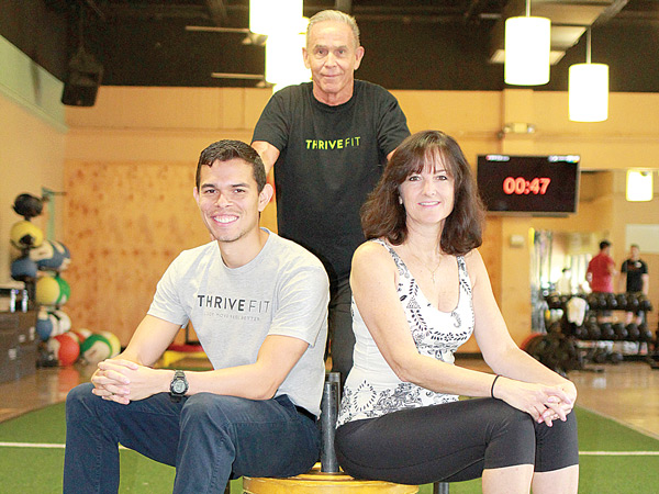 (L to R) Yohn Diaz, Director of Operations; Bill Higgs, GM; and Annette Prior-Perez, Fitness Director