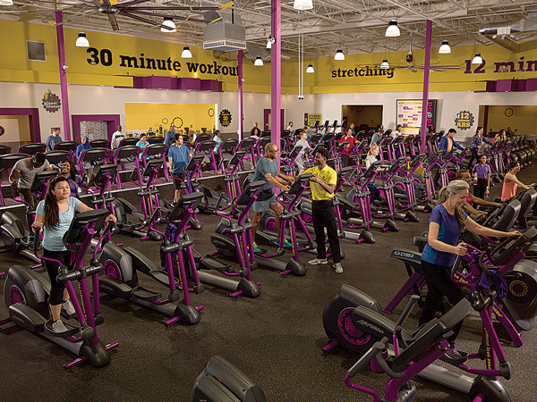 Workout Floor at Planet Fitness