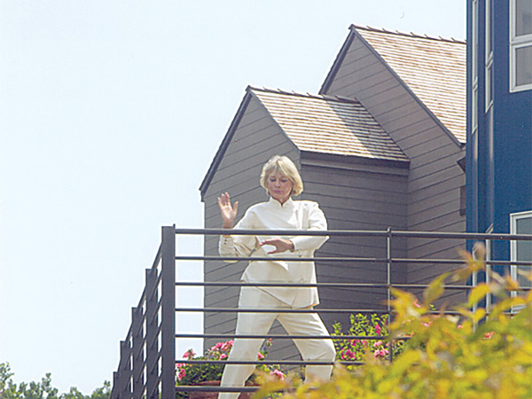 Ruth Stricker Practicing Rooftop Tai Chi