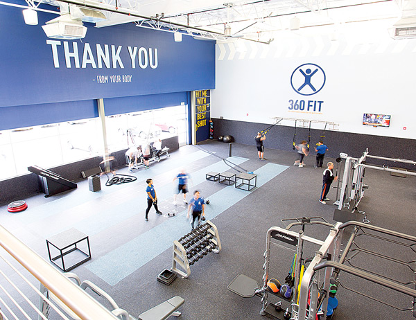 Functional Training Floor at In-Shape Health Clubs