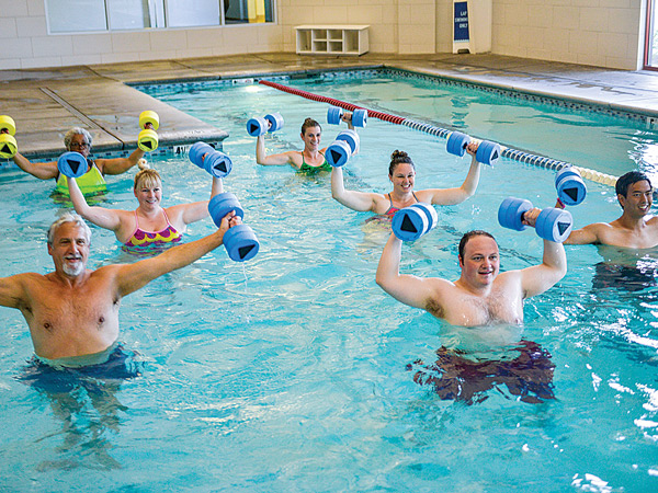 Group Aquatics Training at In-Shape Health Clubs