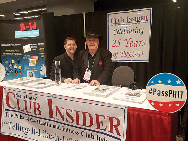 Justin Cates and Norm Cates Celebrating 25 Years of Trust at Club Industry 2017