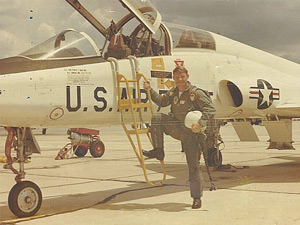 Norm Cates as a United States Air Force Jet Pilot